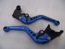 Triumph SPEED FOUR (03-04), CNC levers short blue/black adjusters, F14/T955